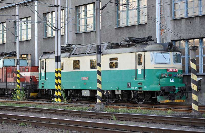 CD Cargo 130-036 outside the depot at Ostrava on 28 September 2011