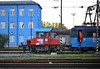 The depot shunter, CD Cargo 799-008, goes about its business at Ostrava on 28 September 2011