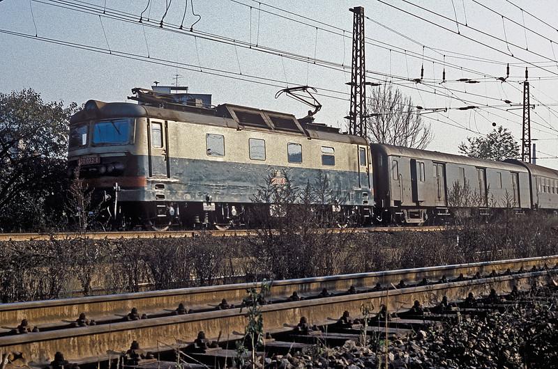 CSD 130-032 heads toward Kolin on 30 October 1991, seen leaving Ceske Trebova