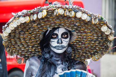 Catrina con sombrero in color