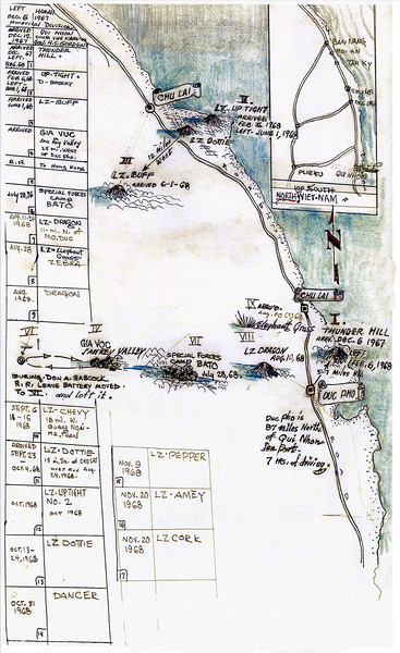 Don Babcocks AO Map, Hand Drawn By Don's Dad