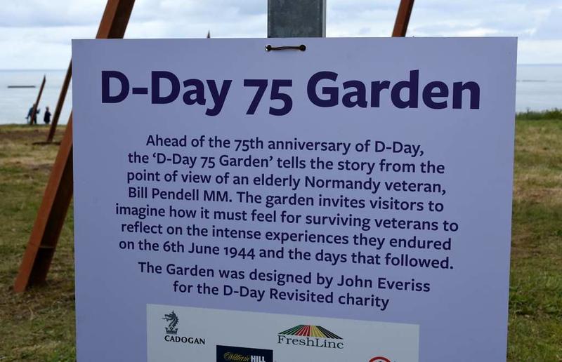 D-Day 75 Garden, Arromanches, Normandy, 5 June 2019 1.