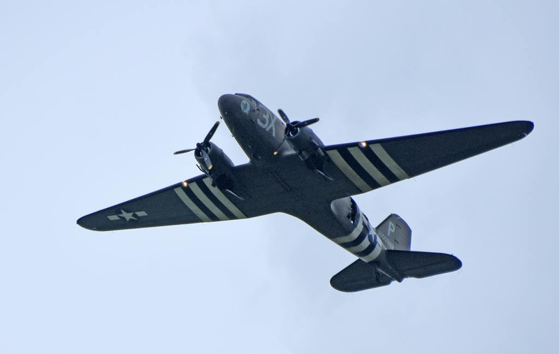 Dakota 3X-P / 2100882, Sannerville, east of Caen, France, 5 June 2019 1 - 1523.  Operated by the Lincolnshire Aviation Heritage Centre.  This Dak did not go to Carpiquet so I only got two shots.