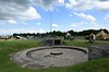 Gun emplacement, Merville battery, Normandy, 8 June 2019.  Guns were mounted in the open until the casemates were built in spring 1944 just before D-Day.