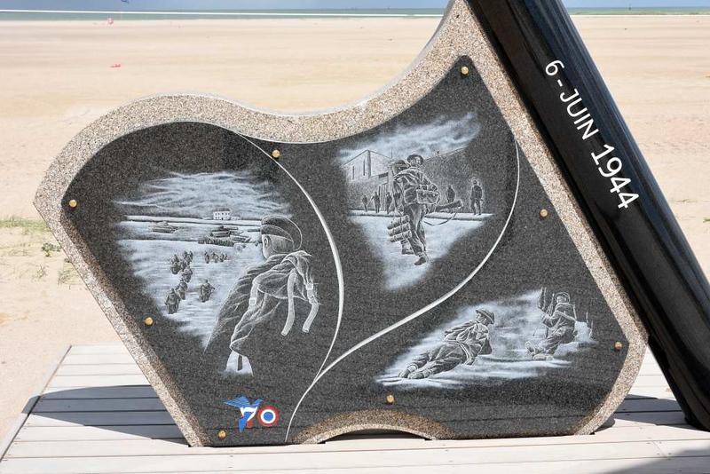 2014 D-Day memorial, Sword Beach, Ouistreham, Normandy, 8 June 2019 4.