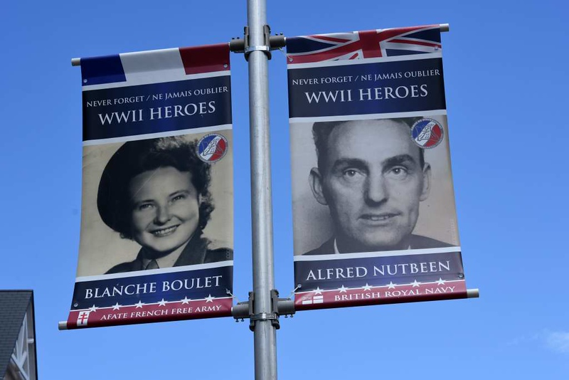 Remembering...D-Day heroes, Ouistreham, Normandy, 8 June 2019.