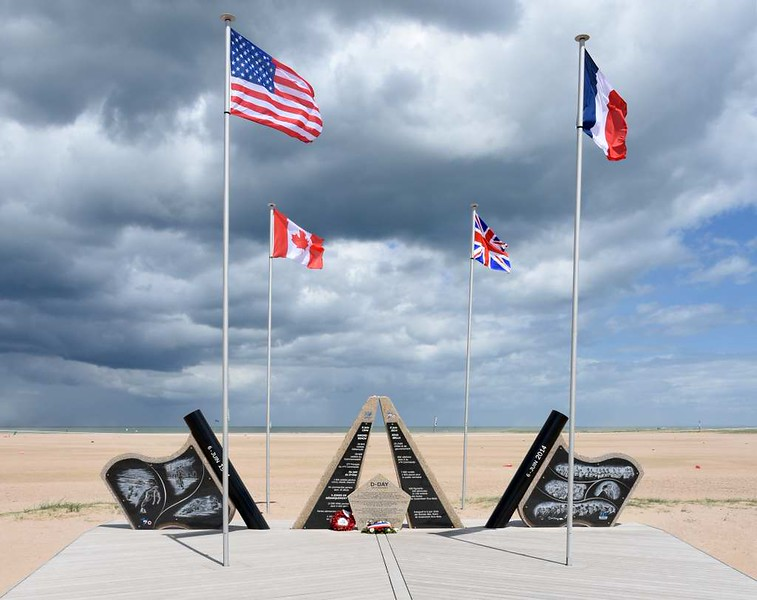 2014 D-Day memorial, Sword Beach, Ouistreham, Normandy, 8 June 2019 1.  Here are five views of this memorial.