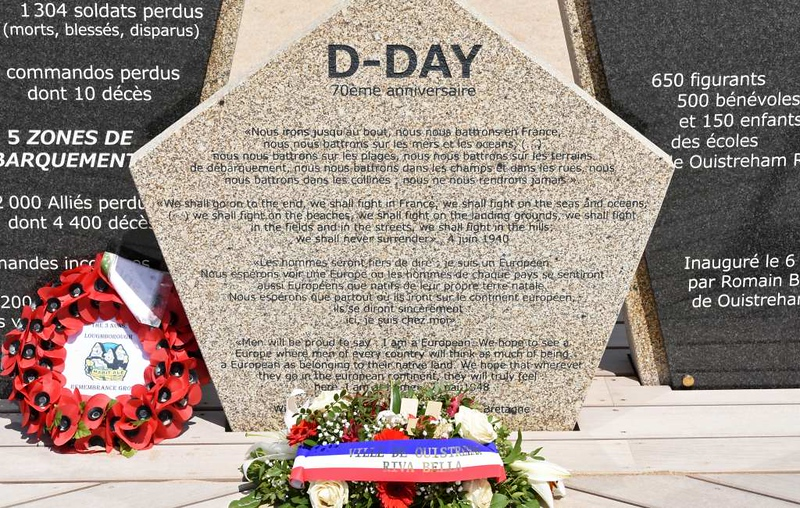 2014 D-Day memorial, Sword Beach, Ouistreham, Normandy, 8 June 2019 3.