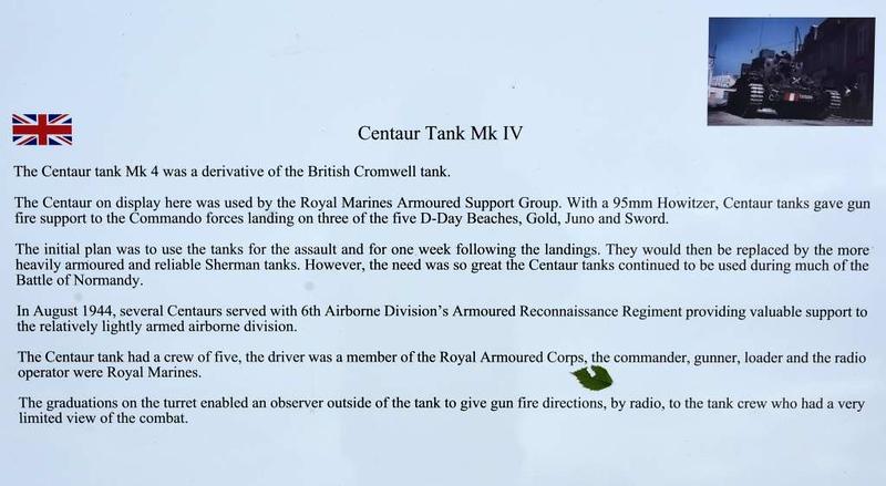 Centaur tank Mark IV, Pegasus Memorial, Ranville, Normandy,  8 June 2019 3.
