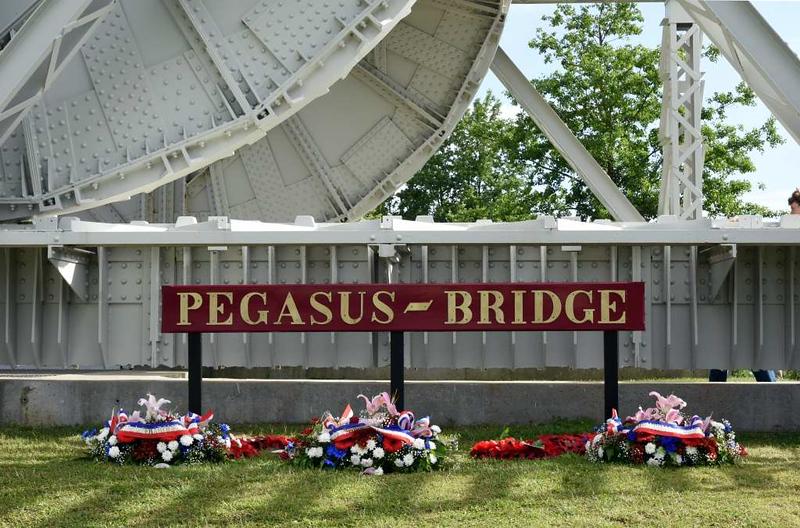 Pegasus Bridge, Pegasus Memorial, Ranville, Normandy, 8 June 2019 1.  Here are five photos of the bridge captured in 1944.