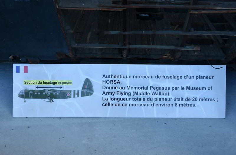 Airspeed Horsa glider fragment, Pegasus Memorial, Ranville, Normandy, 8 June 2019 2. .