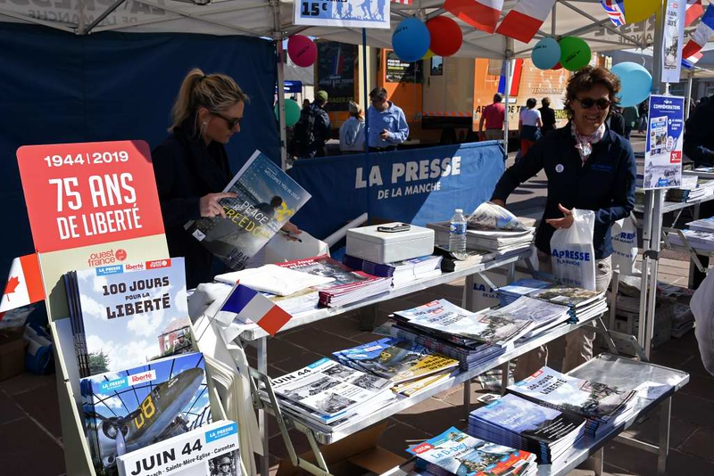 Bookstall, Ste Mere Eglise, Normandy, 6 June 2019.