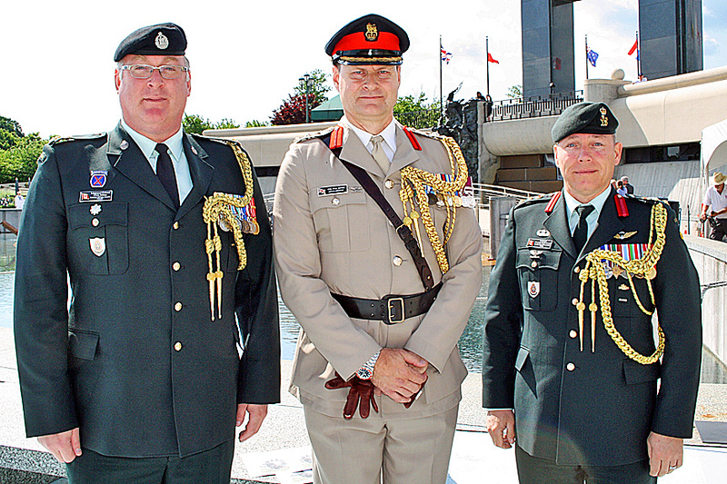 Members of the armed forces attended the ceremony.