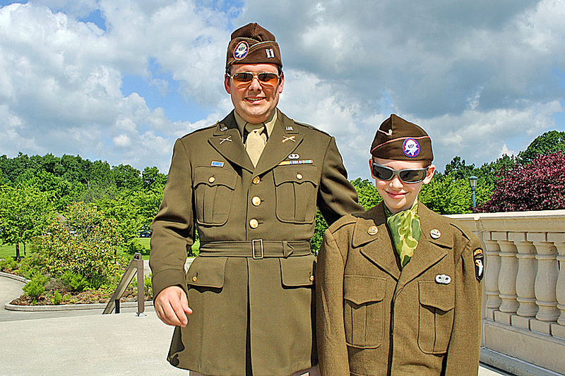 I saw this father and son at the ceremony.