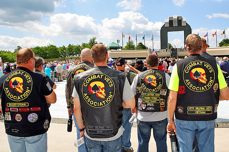 Veterans at the ceremony