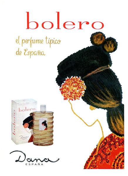 """Bolero DANA 1961 Spain<br /> """"El perfume típico de España"""""""