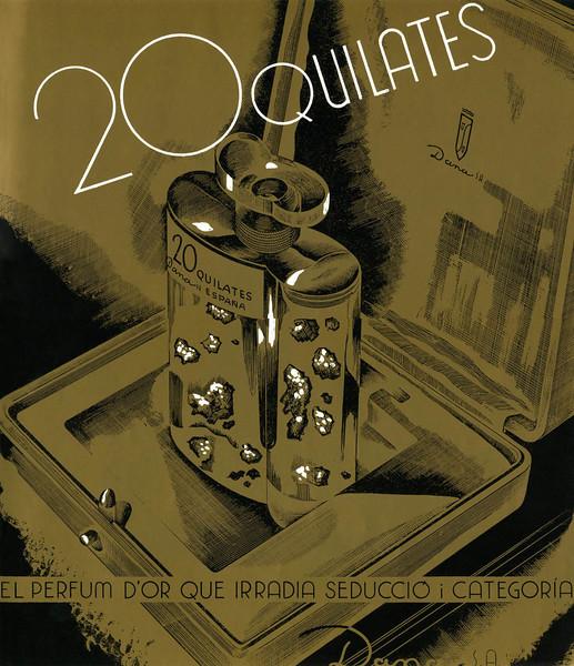 DANA 20 Quilates 1934 Spain (text in Catalan) 'El perfum d'or que irradia seducció i categoria'