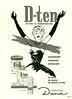 DANA D-Ten deodorant 1958 Argentina 'D-Ten detiene la transpiración'