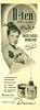 DANA D-ten deodorant 1956 Argentina half page 'Detiene la transpiración- 'Pétalos y - frasco plástico vaporizador'