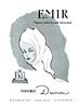 DANA Emir 1958 Spain (format 13 x 18 cm)<br /> 'Perfume exótico de gusto internacional' bis <br /> ILLUSTRATOR: Roberto Rodríguez Baldrich