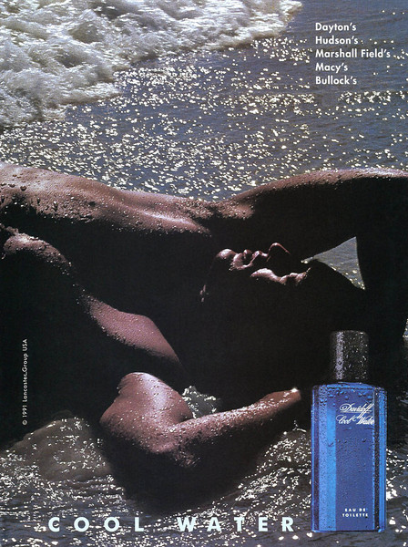 DAVIDOFF Cool Water 1991 US: 5 lines outlets <br /> (Dayton's - Hudson's - Marshall Field's - Macy's - Bullock's)<br /> MODEL: Jo Gogol