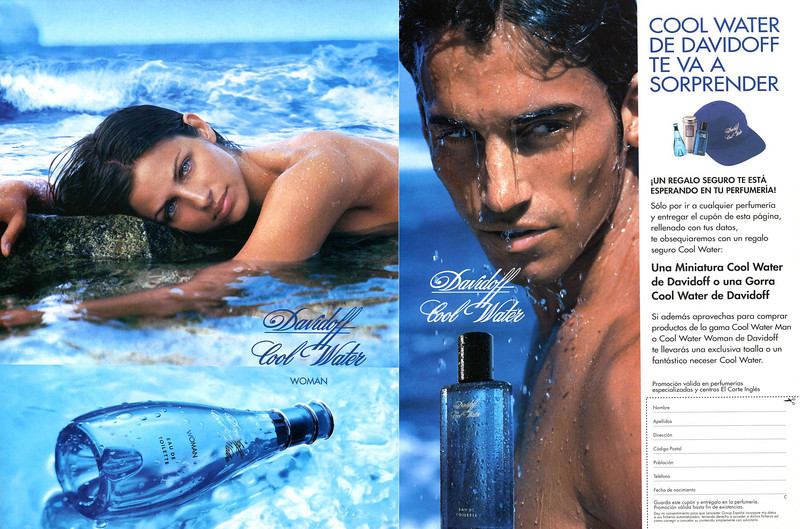 DAVIDOFF Cool Water - Cool Water Woman 1999 Spain spread