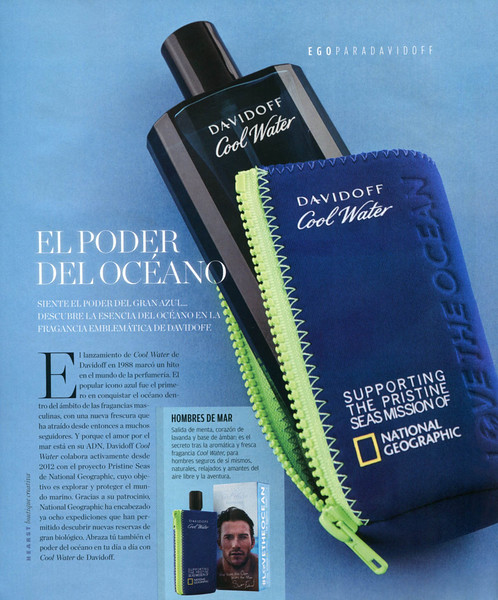 DAVIDOFF Cool Water Love The Ocean National Geographic 2015 Spain (advertoril Ego) 'El poder del océano'