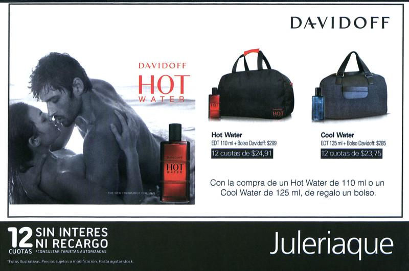 DAVIDOFF Hot Water 2010 Argentina (Juleriaque stores) half page