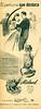 """Miclavel<br /> DE NICOLO<br /> 1945 Argentine<br /> """"El perfume que destaca/Perfume exacto al clavel rojo""""<br /> half-page"""