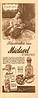 """Miclavel<br /> DE NICOLO<br /> 1945 Argentine<br /> """"Los grandes romances, Revívalos con Miclavel, perfume exacto al clavel rojo""""<br /> half-page"""