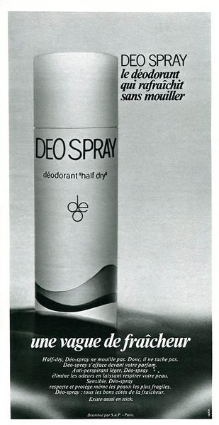 DEO spray 1971 France