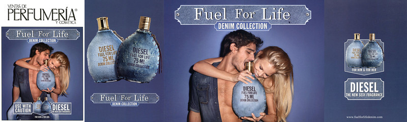 DIESEL Fuel for Life Denim Collection 2011 Spain (5-page fouldout) <br /> 'Use with caution - For him and for her - The new sexy fragrance'<br /> <br /> MODEL: Marlon Teixeira &  Marloes Horst, PHOTO: Terry Richardson