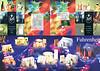 CHRISTIAN DIOR Diverse 2001 Spain (Perfumerías Ana stores) 8-page foldout 'Christian Dior y Perfumerías Ana les desean Felices Fiestas'
