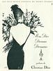 CHRISTIAN DIOR Diverse (Miss Dior - Diorama - Diorissimo) 1960 France 'Les plus beaux cadeaux de notre époque'<br /> <br /> ILLUSTRATOR: René Gruau