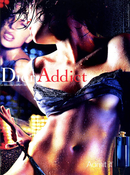 DIOR Addict 2002 France 'Le nouveau parfum de Dior - Admit it - Assumez'
