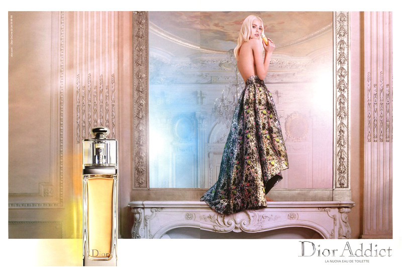 DIOR Addict Eau de Toilette 2014 Italy spread 'La nuova Eau de Toilette'<br /> MODEL: Sasha Luss, PHOTO: Ryan McGinley