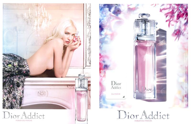 DIOR Addict Eau Fraîche 2015 Russia rv scent sticker (handbag size format) 'Новый Eau Fraîche'