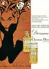 DIOR Diorissimo Eau de Toilette – Eau de Cologne ~1967 France 'Avec l'atomiseur, votre eau de toilette ou votre eau de cologne, 'a l'abri de l'air...'