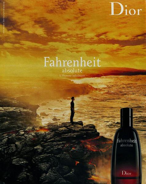 DIOR Fahrenheit Absolute 2009 Spain 'L'Homme infiniment'