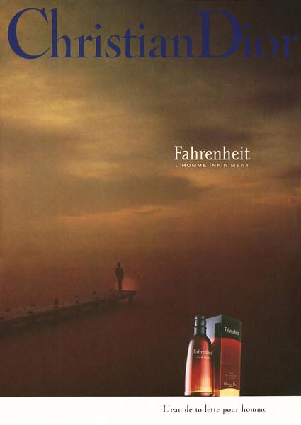 CHRISTIAN DIOR Fahrenheit 1990 Spain (format Man) ''L'homme infiniment - L'eau de toilette par Christian Dior'