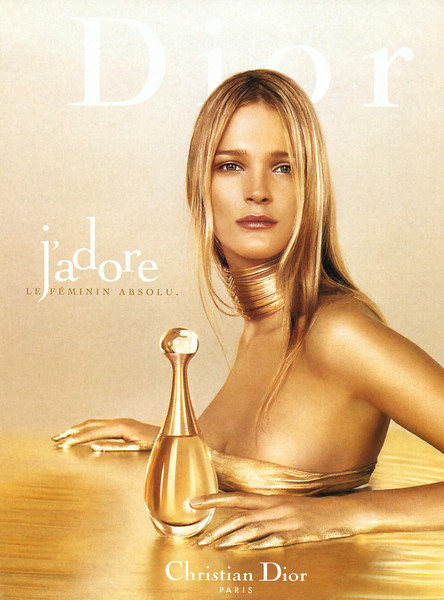 J'Adore DIOR 1999 France 'Le féminin absolu'<br /> MODEL: Carmen Kass, PHOTO: Jean-Baptiste Mondino