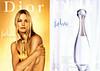 DIOR J'Adore + J'Adore L'Eau de Toilette 2003 France (recto-verso with scented sticker) <br /> 'Le féminin absolu - La nouvelle Eau de Toilette - Découvrez une nouvelle façon de dire J'Adore'