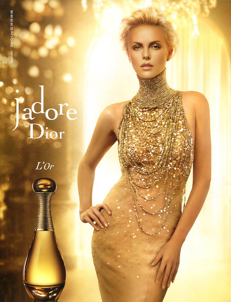 J'Adore DIOR L'Or 2013 Italy 'dior com - Dior Online 02 36 59 88 88'<br /> MODEL: Charlize Theron, PHOTO:  Darius Khondji
