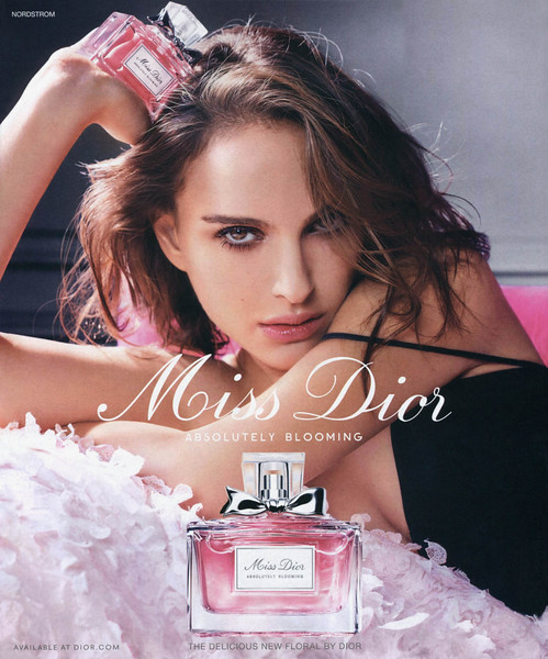 """Miss DIOR Absolutely Blooming 2016 US (Nordstrom stores) format 23 x 27,5 cm 'Available at dior. com - The delicious new floral by Dior'<br /> <br /> MODEL:  Natalie Portman, PHOTO: Tim Walker<br /> <br /> TV COMMERCIAL: <a href=""""https://www.youtube.com/watch?v=N6r7OlSnkRE"""">https://www.youtube.com/watch?v=N6r7OlSnkRE</a>"""