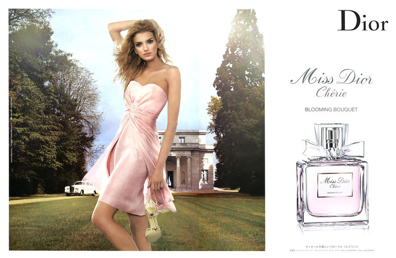 Miss DIOR Chérie Blooming Bouquet 2008 Japan spread <br /> MODEL: Lily Donaldson