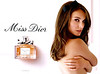Miss DIOR Chérie Eau de Parfum 2011 Spain spread (format 16 x 24 cm) <br /> 'Miss Dior - www missdior com'<br /> ('Miss Dior Chérie Eau de Parfum' on the bottle label)