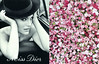 Miss DIOR Eau de Toilette 2013 France spread <br /> (glossy cardboard fouldout with scented 3D paper flower in the centerfold)