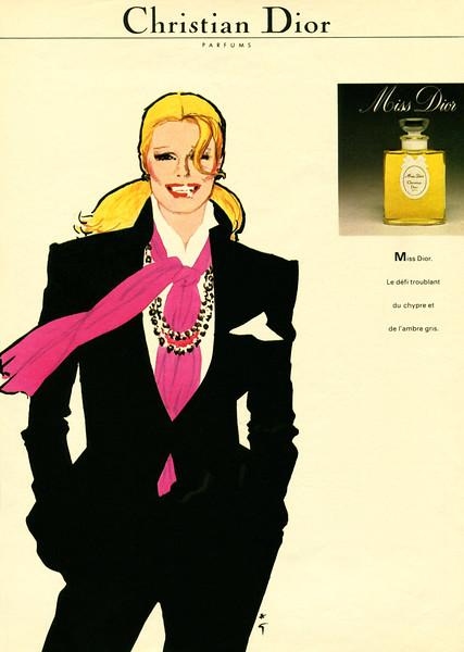 Miss DIOR 1981 France 'Le défi troublant du chypre et de l'ambre gris'