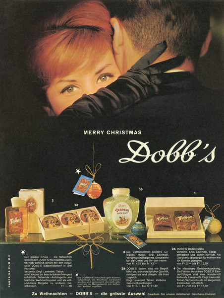 DOBB'S Diverse 1960 Switzerland 'Merry Christmas'
