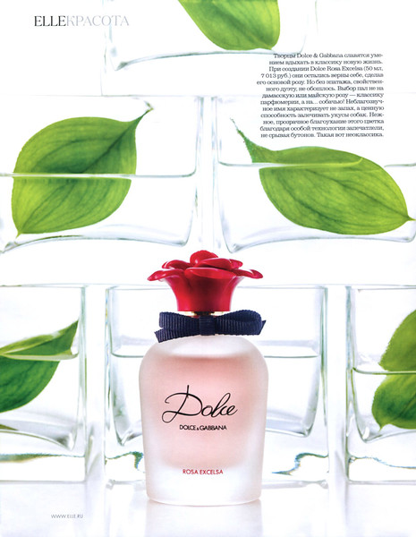 a5633b58 DOLCE & GABBANA Dolce Rosa Excelsa 2016 Russia (advertorial Elle) <br />